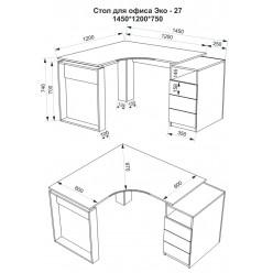 Стол офисный Эко-27