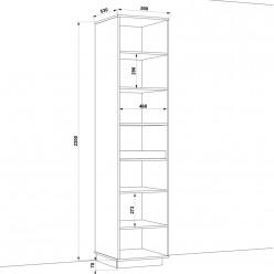 Шкаф распашной HOLD №21