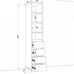 Шкаф распашной HOLD №26
