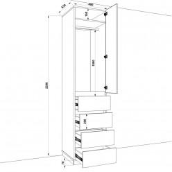 Шкаф распашной HOLD №29