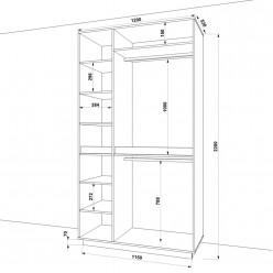 Шкаф распашной HOLD №38