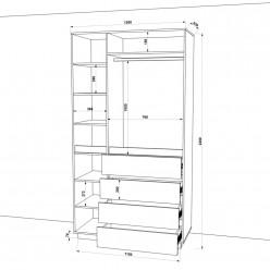 Шкаф распашной HOLD №41